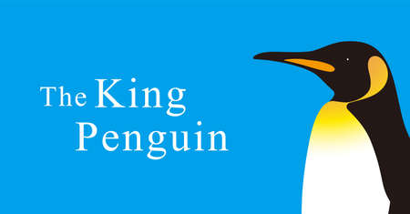King Penguin standing watch up, Penguin seed series, vector illustration