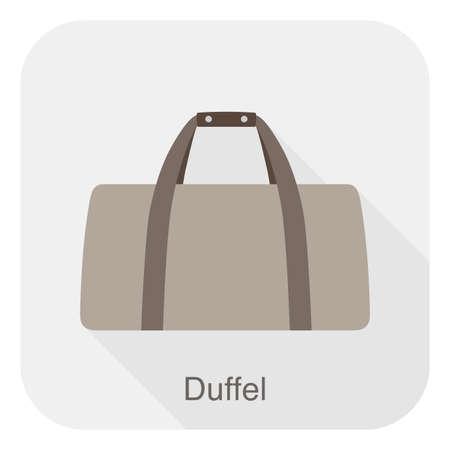 duffel: Fashion girls bag series,  illustration, duffel bag Illustration