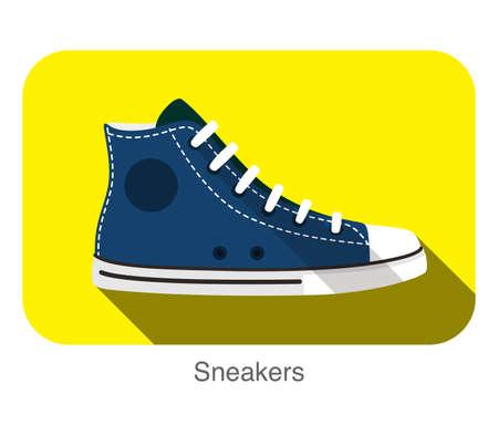 old  style sport sneakers shoe, vector illustration Illustration