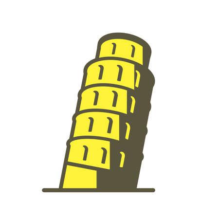pisa. famous Landmark icon of the world series