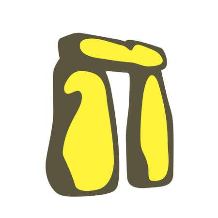 Stonehenge, England, famous landmark flat icon design, vector