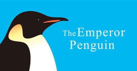 king penguins: Emperor Penguin, Penguin series, close-up Illustration