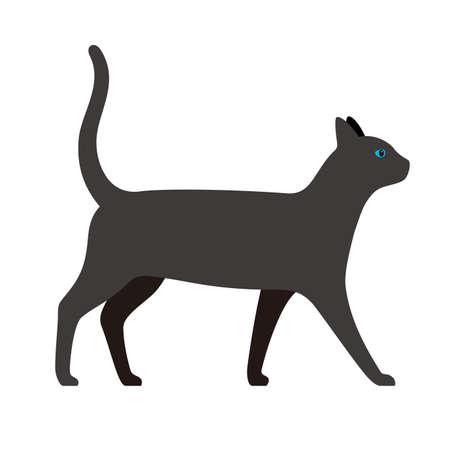 cat, farm animal icon illustration