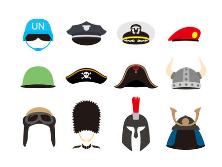 solder hat helmet set, illustration