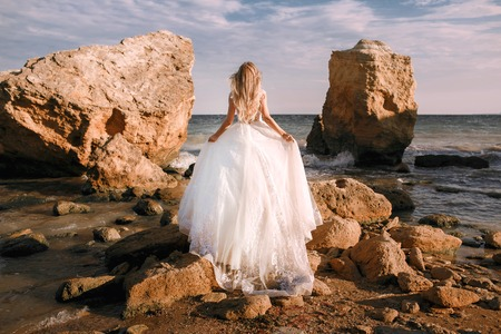bride at the edge of the mountain