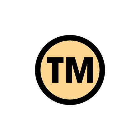 Trademark Icon In Trendy Design Vector