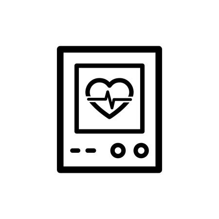 Heart Rate Detection, Heart Rate Test Icon In Trendy