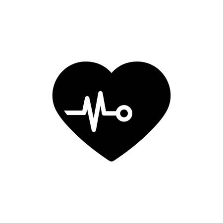 Heartbeat Icon In Trendy  Design  イラスト・ベクター素材