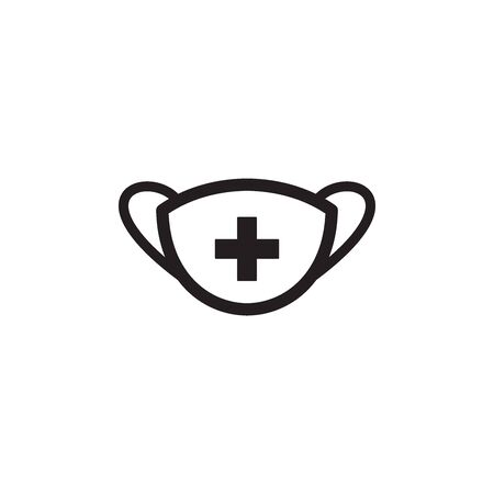 Medical Mask Icon In Trendy Design Vector Eps 10