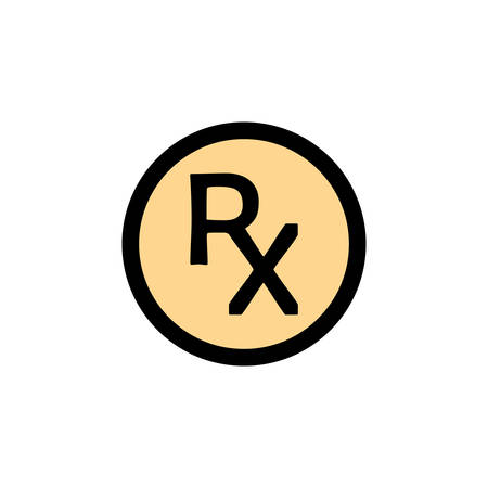 Rx Pharmacy Medicine / Prescription Icon In Trendy Design  イラスト・ベクター素材