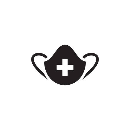 Medical Mask Icon In Trendy Design  イラスト・ベクター素材