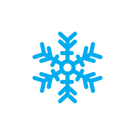 Snowflake Icon In Trendy Design  イラスト・ベクター素材