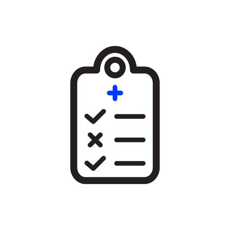 Medical Report Icon In Trendy Design  イラスト・ベクター素材