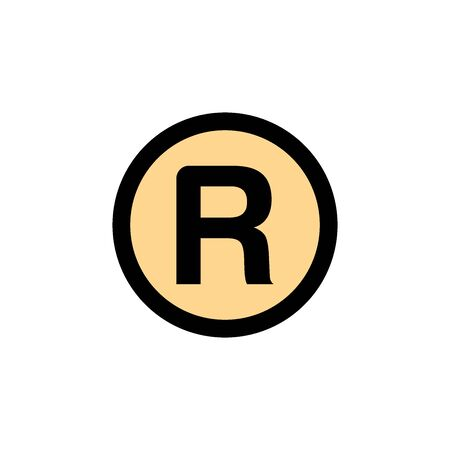 Registered Icon In Trendy Design