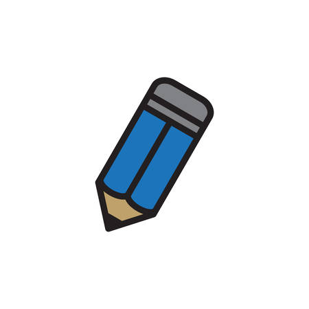 Pencil  Icon In Trendy Design