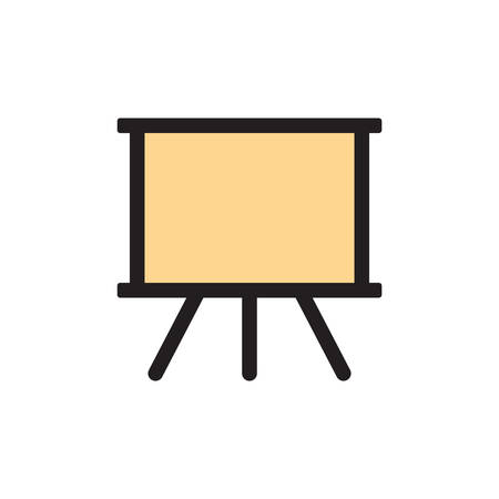 Painting, Blackboard, Board Icon In Trendy Design  イラスト・ベクター素材