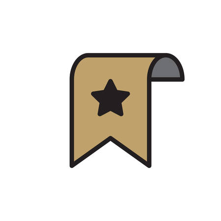 bookmark Icon In Trendy Design  イラスト・ベクター素材