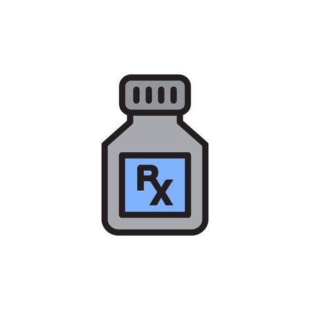 Bottle Pill Icon In Trendy Design Vector