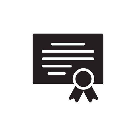 Certificate Icon In Trendy Design Vector