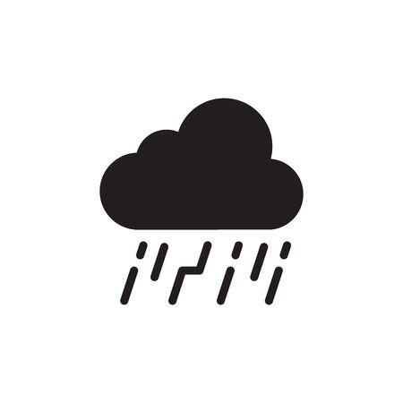Rain Clouds Icon In Trendy Design Vector Eps 10
