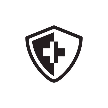 Cross Shield Icon In Trendy Design Vector Eps 10