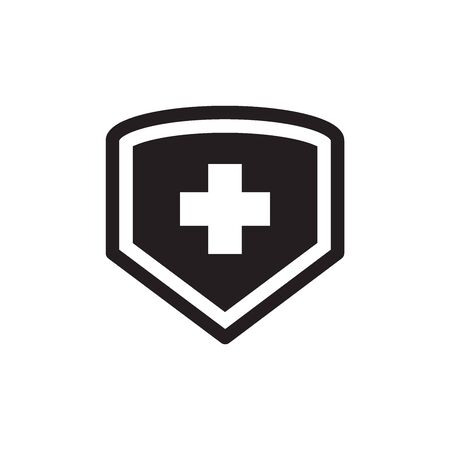 Cross Shield Icon In Trendy Design Vector Eps 10 Illustration