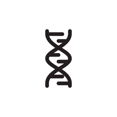 Dna Icon In Trendy Design Vector
