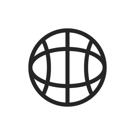 Globe Icon In Trendy Design Vector