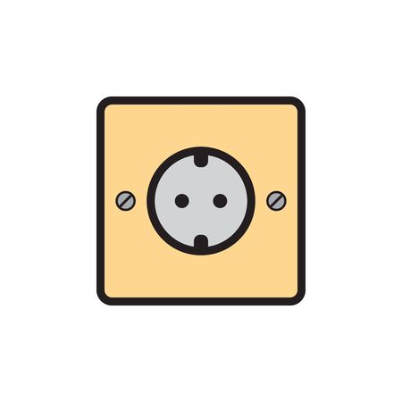 Socket Outlet Plug In Icon In Trendy  Design