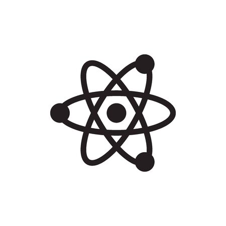 Atom Icon In Trendy  Design Vectores