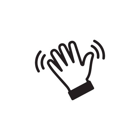 Wave Hand, Gestures of Human Hand Icon In Trendy Design