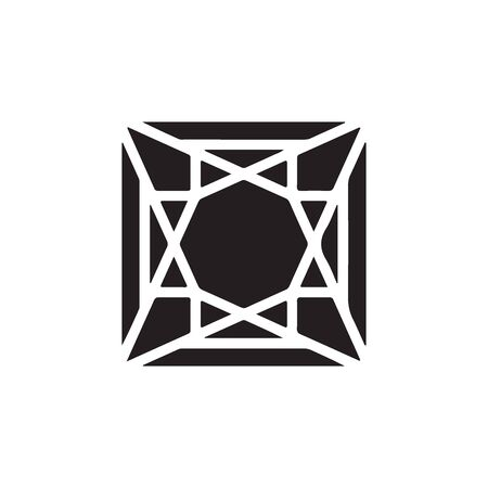 Diamond Icon In Trendy Design