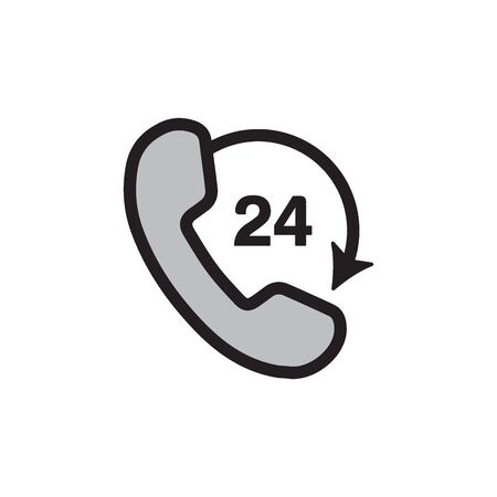 Call Center 24 Hours Icon In Trendy Design Vector Eps 10