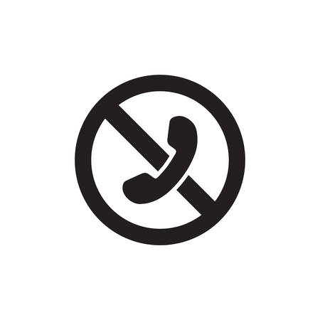 No Phone Sign. No Talking And Calling Icon In Trendy Design