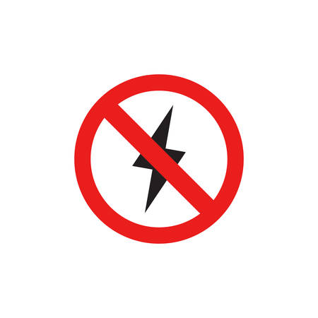No Flash Icon , Prohibition Lightning Sign Icon In Trendy Design Vector Eps 10