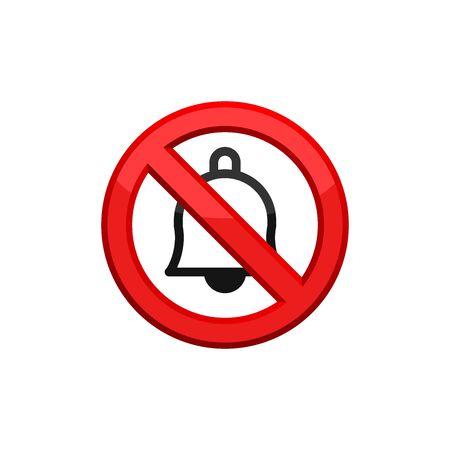 No Sound Volume Sign On White Background. No Noise Sign. Prohibited Noise Icon In Trendy Design Vector Eps 10  イラスト・ベクター素材
