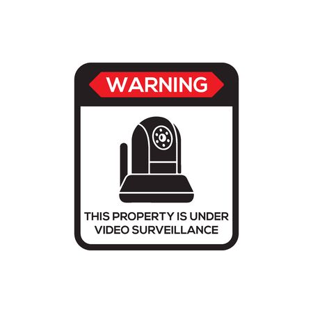 Video Surveillance Sign icon In Trendy Design Vector Eps 10