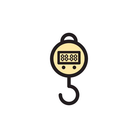 Hanging Weight Scales Icon In Trendy Design Vector Eps 10