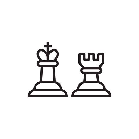 Chess Icon In Trendy Design Vector Eps 10