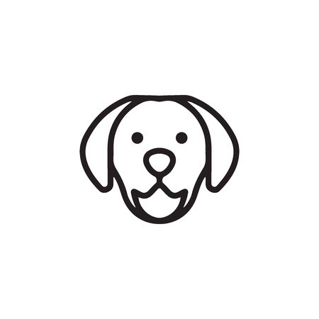 Dog Icon In Trendy Design Vector Eps 10