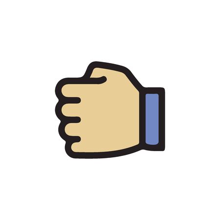 Raised Fist, Hold Gesture, Holding on Gestures of Human Hand Icon In Trendy Design Vector Eps 10