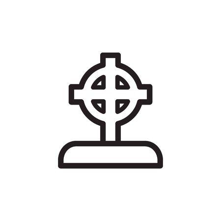 Tombstone Icon In Trendy Design Vector