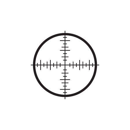 Target Scope Icon In Trendy Design Vector