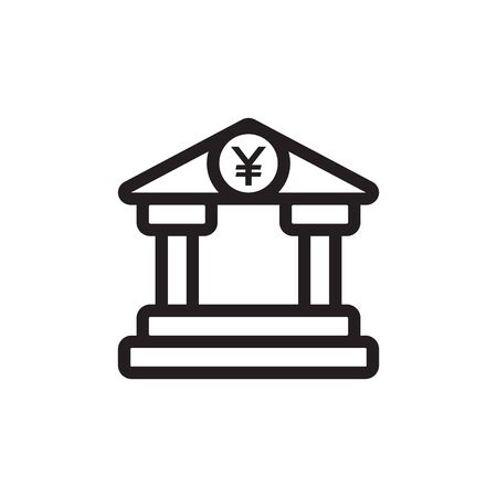 Bank Icon In Trendy Design Vector