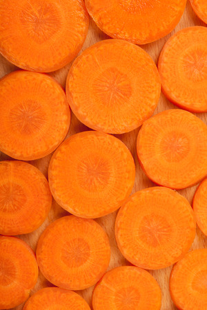 chopped: Chopped carrots arranged as pattern Stock Photo