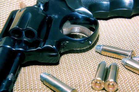 revolver and bullets 写真素材