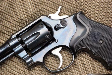 marksmanship: revolver Stock Photo