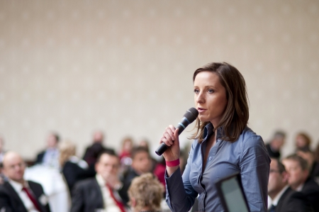 Indoor business conference for managers. Stock Photo - 16334631