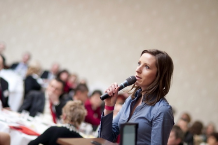 Indoor business conference for managers. Stock Photo - 16334647