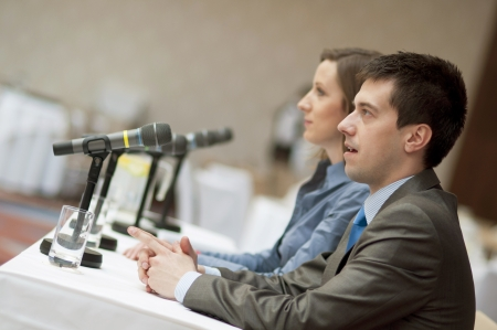 education event: Indoor business conference for managers.